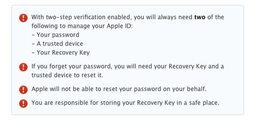 2 steps verification