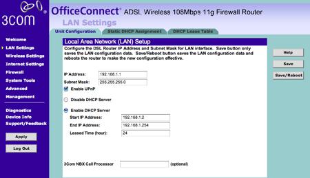 3com configurar ips