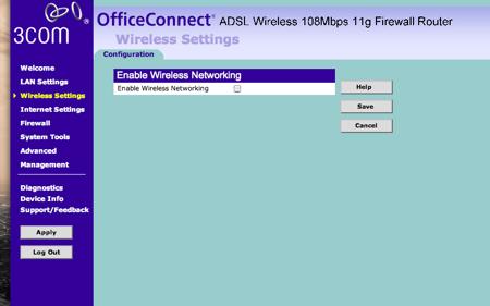 3com check wifi off