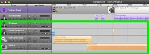 Podcasting - Garageband - Resta de pistes d'àudio