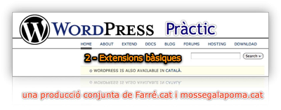 WP Pràctic 2 Extensions bàsiques