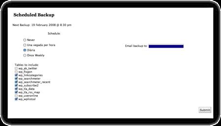 WP Pràctic 3 WP Database Backup - imatge 2