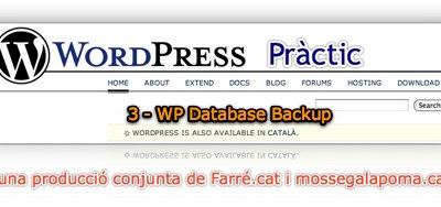 WordPress Pràctic 3 – WP Database Backup