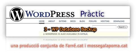 WP Pràctic 3 WP Database Backup