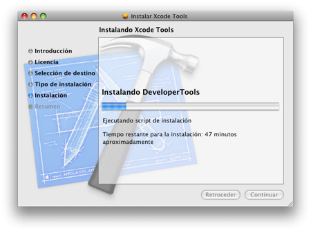 Xcode Tools Installation