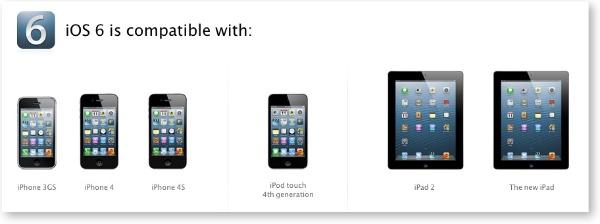 Compatibilitat iOS 6