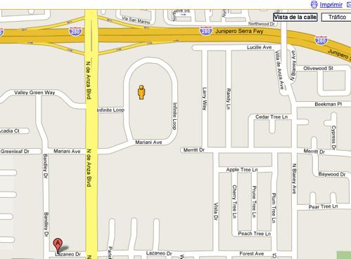 mapa cupertino google