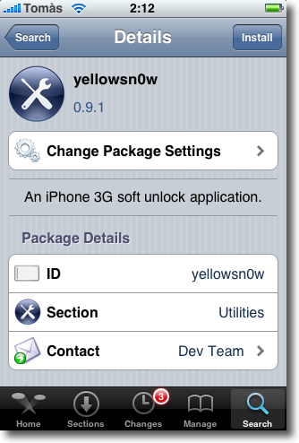 yellowsn0w iphone cydia