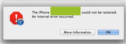 error 3200 iOS 5