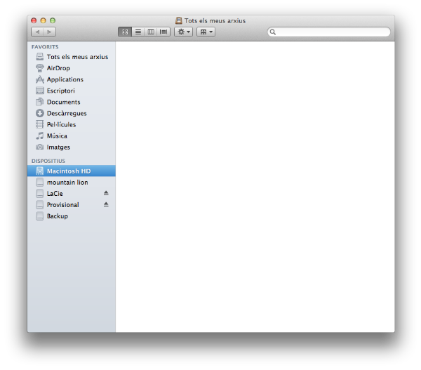 Finder al Mountain Lion
