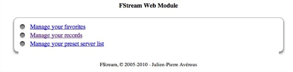 FStream Web Management