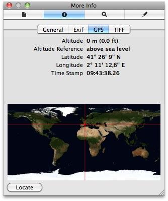 visualitza informació GPS