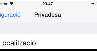 GUIA: Desactivar el servei de localització a iOS