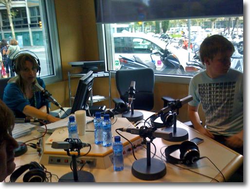 visita a Catalunya Ràdio per parlar d'iPhone 3GS
