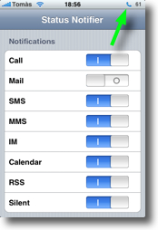 iPhone StatusBar Notifiers