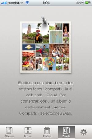 iPhoto per iOS en català