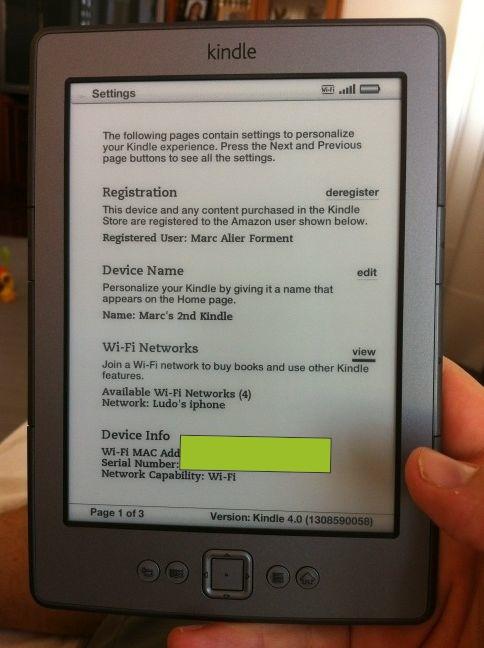 Kindle 4 d'en Ludo
