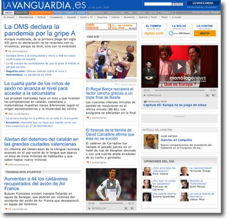 La Vanguardia després