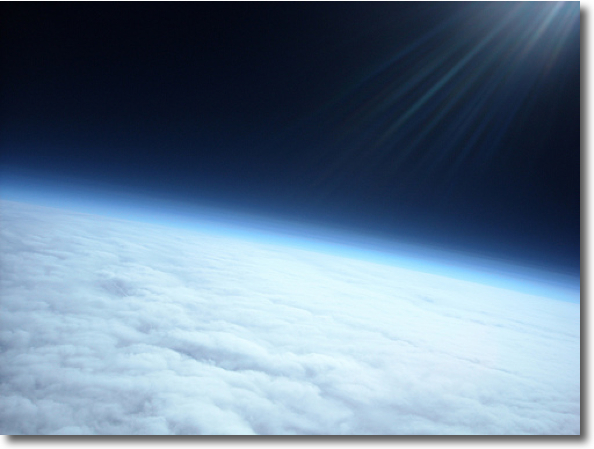 Meteotek08 imatge des de 30.000 metres