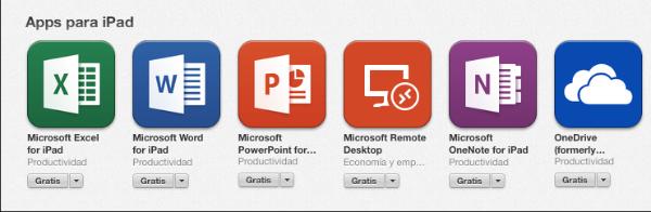 Aplicacions de Microsoft per iPad