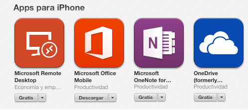 Aplicacions de Microsoft per iPhone