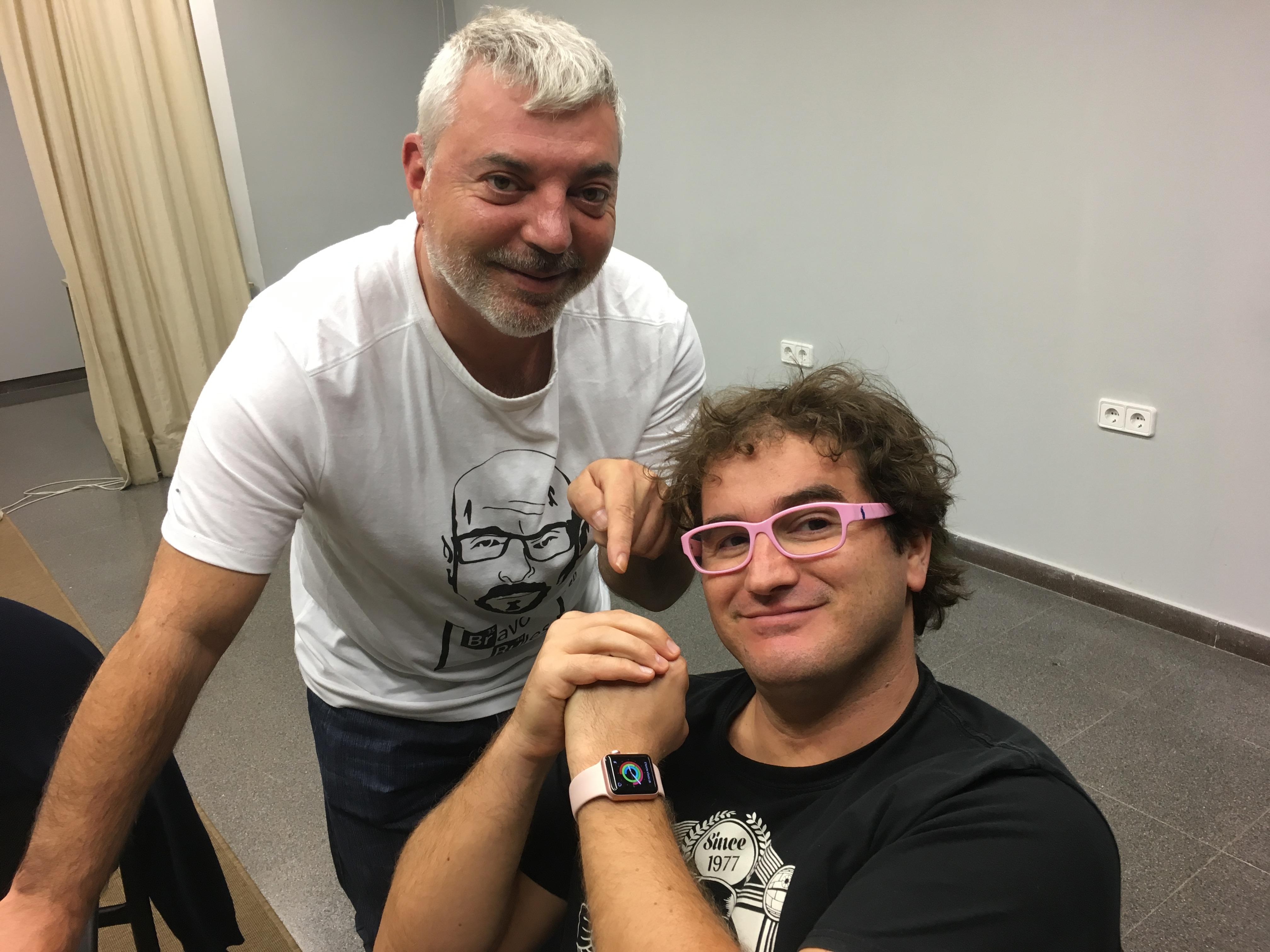 Marc i el seu apple watch