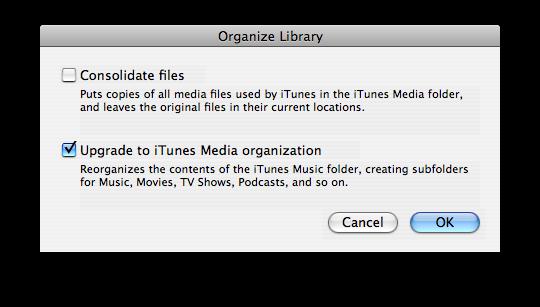 organitzar llibreria iTunes