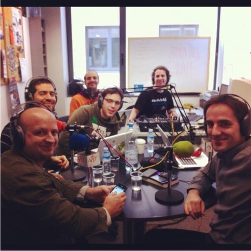 Tothom a l'estudi en el Podcast 100