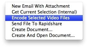 Video encoding - Mac OS X Lion