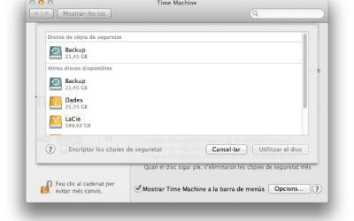 Especial seguretat 3: Còpies de seguretat en #MacOSX