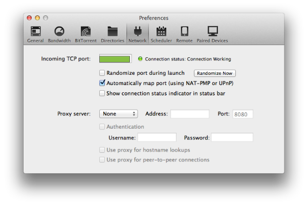 preferències network utorrent