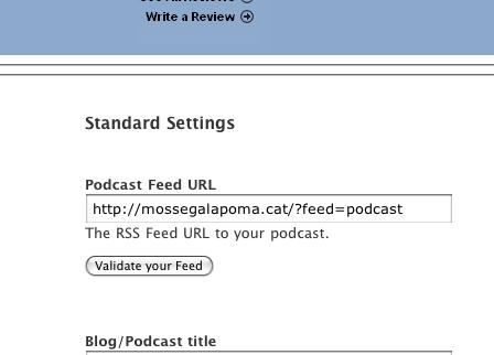 el Feed del Podcast