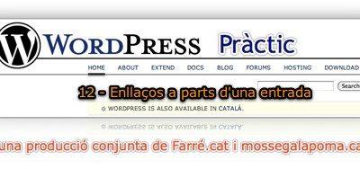 WordPress Pràctic 12 – Enllaços a part d'una entrada
