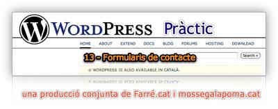wodpress practic 13 - Forumularis de Contacte