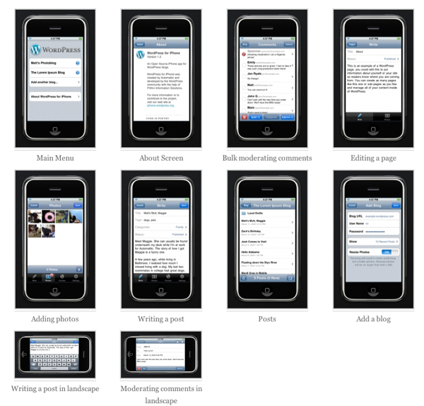 WordPress per l'iPhone