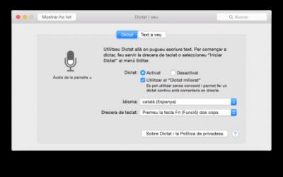 Dictat en català per iOS8 i MacOSX Yosemite